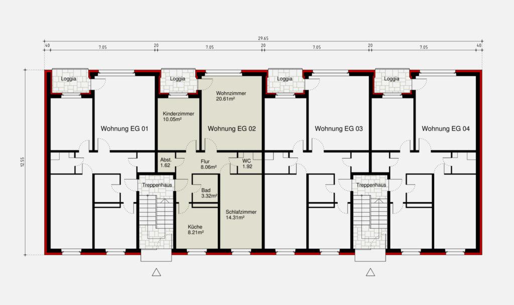 Frankfurt Niederrad – Wohnungsbau – Gerstner Kaluza Architektur Frankfurt
