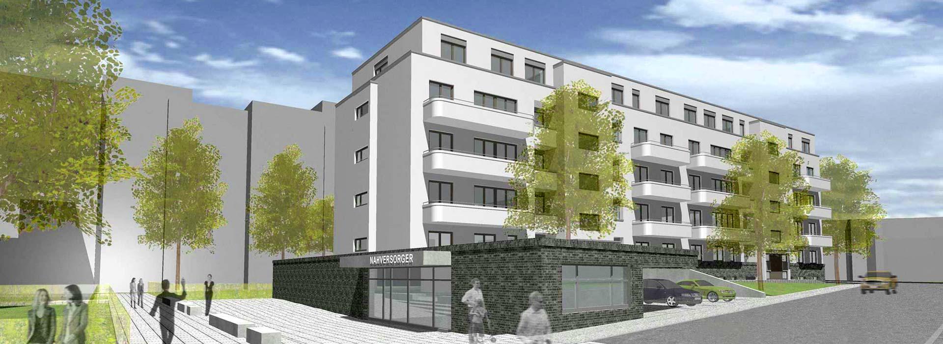 Steinbach – Konzept Mehrfamilienwohnhaus – Gerstner Kaluza Architektur Frankfurt